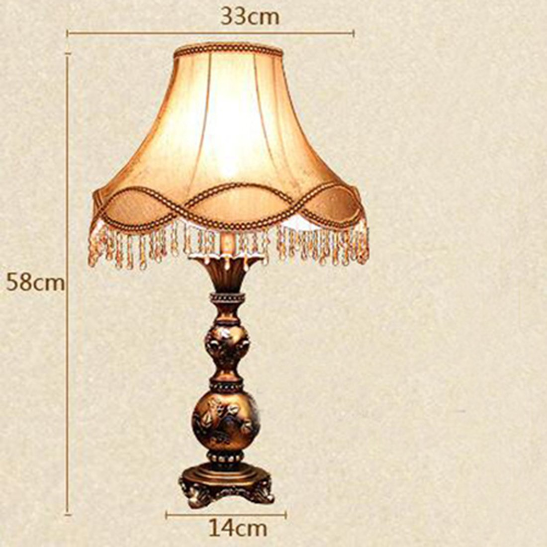 European Palace Style Table Lamp Classic Bedroom Bedside Decorative Desk Light Living Room Luxury Antique Resin Lighting Fixture
