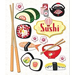K&company Sushi Sticker Medley