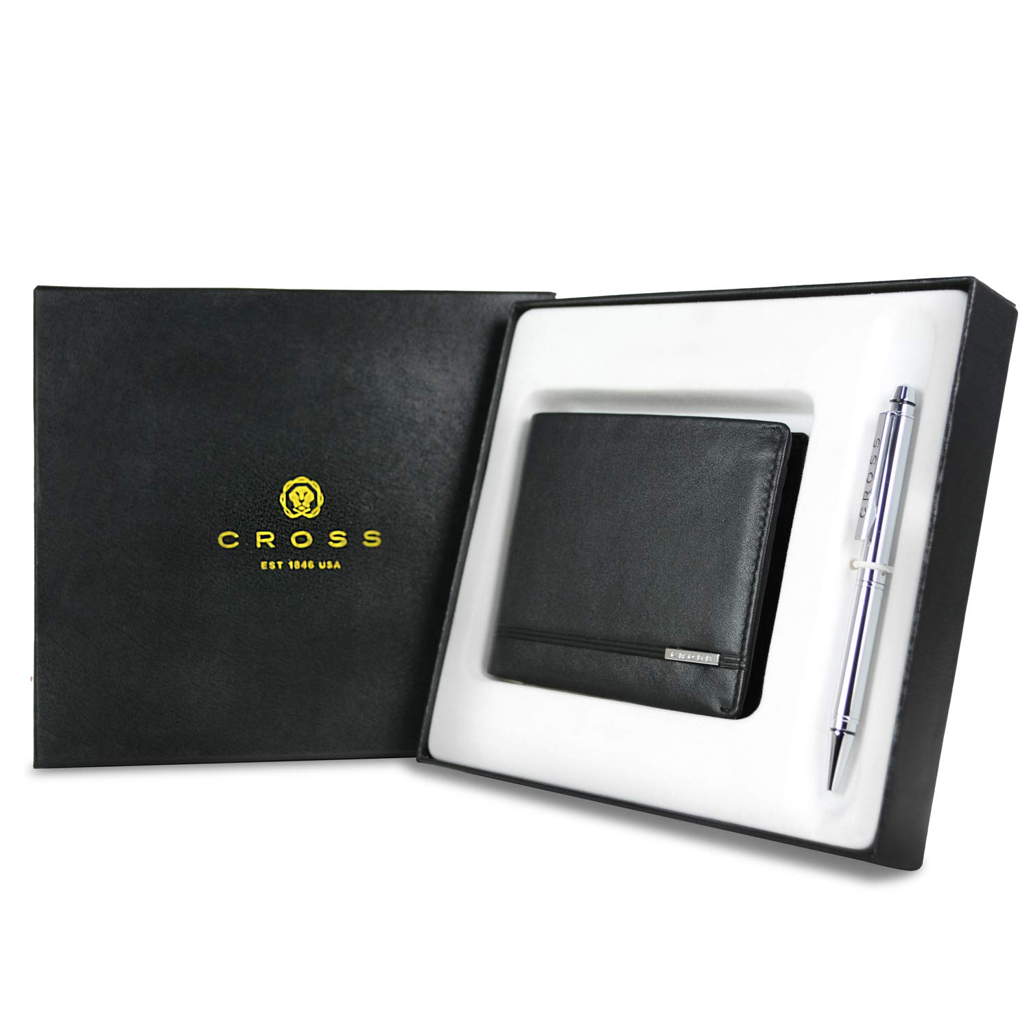 Cross Classic Century Bifold Coin Wallet And Luxury Agenda