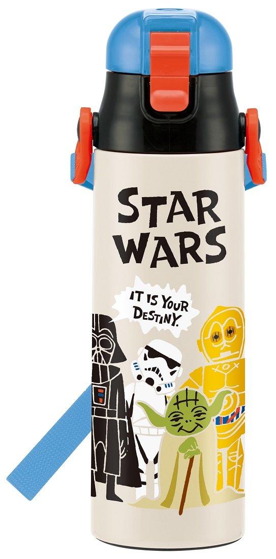 Direct stainless steel bottle 580ml Star Wars paper cut SDC6