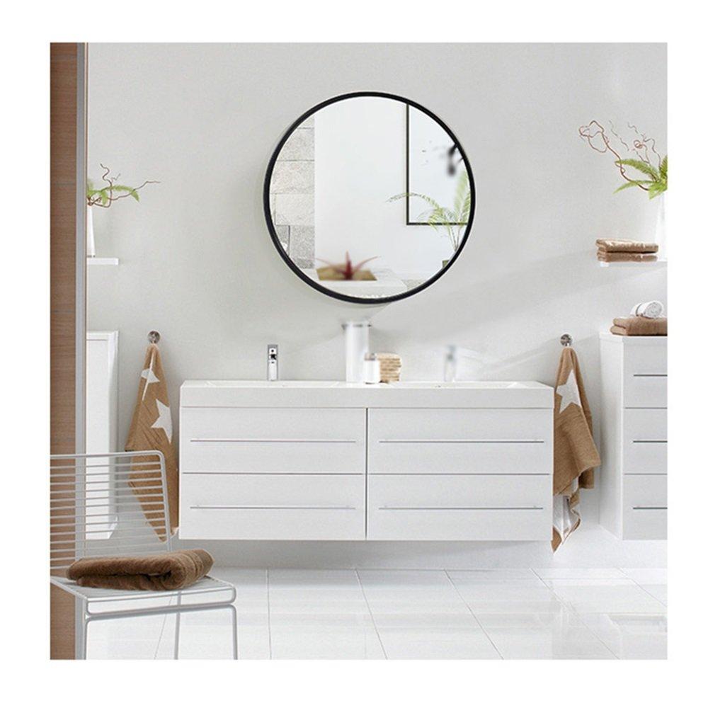 Mirror Spiegel - Badezimmer Badezimmer Kosmetikspiegel Wandbehang Wandbehang Wandbehang Europäische Waschspiegel 40 50 60 70cm (Farbe   Schwarz, größe   60cm) bd972e