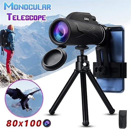 TWWYJGC 80X100 Telescopio Potente Profesional Monocular para Lente Ocular Móvil Objetivo Objetivo Óptica: Amazon.es: Hogar