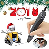 3D Printing Pen, Dazzle Light Safer 3D Printing Pen with Gift Box for Kids and Adults, Doodler Model 3D Pencil Making Toys and Art Crafts Tool, Compatible with PLA Filament Refills(Black)