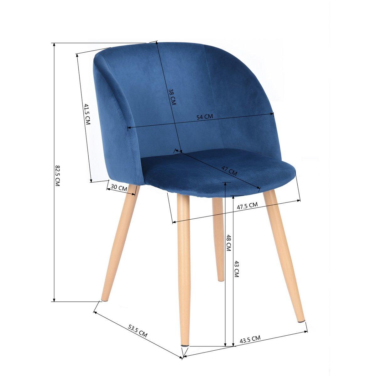 Gut 2 Retro Samt Akzent Sessel Küche Stuhl Esszimmer Stühle Bürostühle Sessel  Blau
