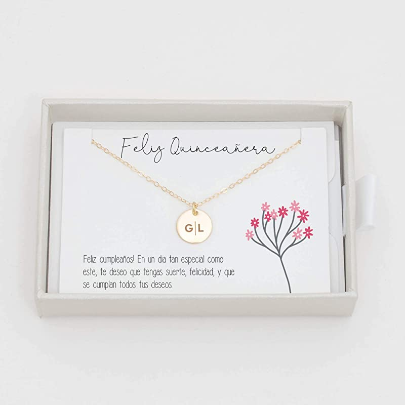 Quinceanera Pendant Cubic Zirconia Pendant Sweet 15 Rose Gold Pendant Rose Gold Quinceanera Surprise Gift For Daughter Gift For Her