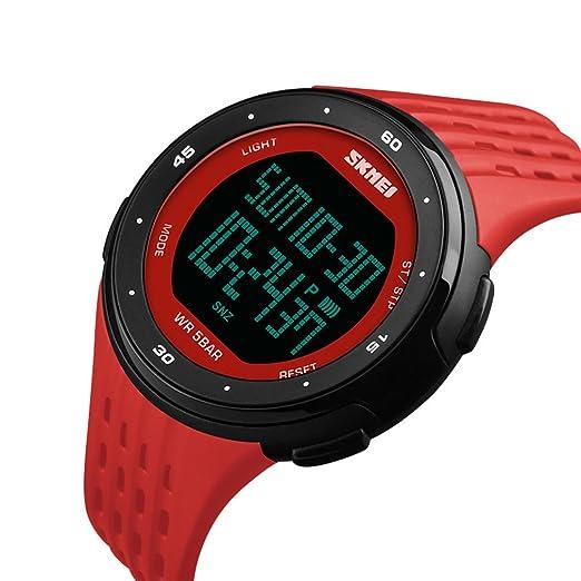 XinFang Hombres Mujeres Reloj Digital de Moda Multifunción Impermeable Relojes Deportivos para Niños Reloj de Alarma Cronómetro al Aire Libre: Amazon.es: ...