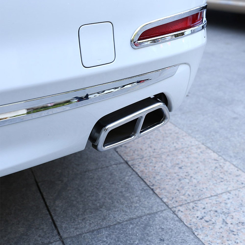 For New 5 Series G30 2017 2018 Stainless Steel Car Exhaust Cover Trim Chrome Accessories