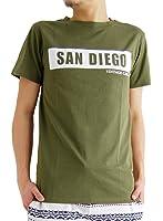 (アーケード) ARCADE 春 夏 半袖 クルーネック ボックスロゴ プリント メンズ Tシャツ カットソー