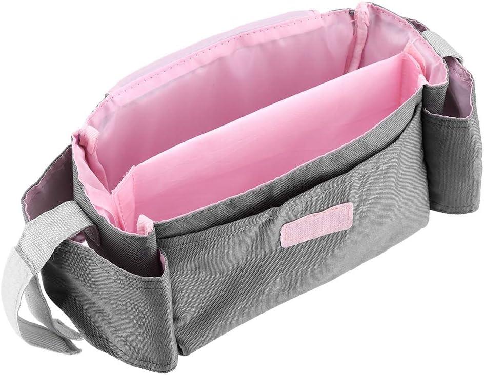 Poussette de b/éb/é organisateur sac poussette de b/éb/é poussette poussette accessoires sac de rangement sac /à langer bouteille organisateur sac panier de rangement d/épicerie poussette sac rose