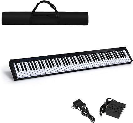 Piano electrónico portátil Costzon de 88 teclas, altavoz ...