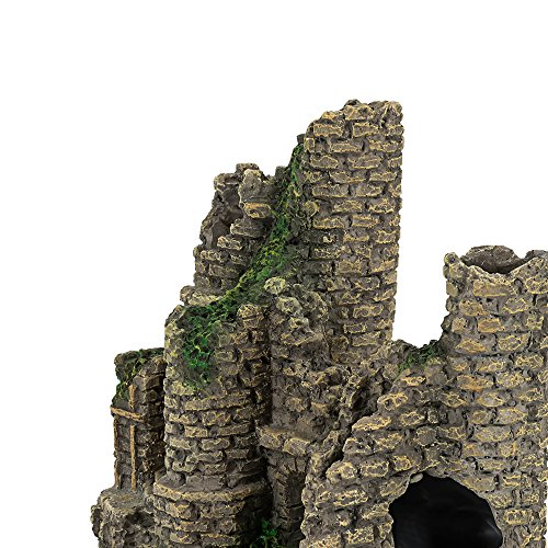 Hygger Aquarium Ornaments Fish Tank Decorations Castle Cave Resin Roman Column, Non-toxic Durable Resin Material, Safe for Fish by Hygger (Image #6)