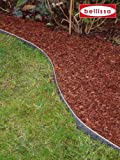 Bellissa Bordure de jardin en métal galvanisé 118 x 20cm