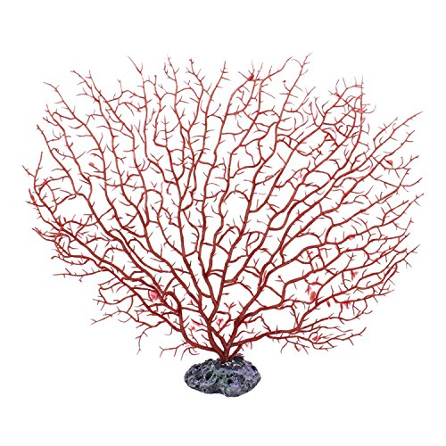 Lesypet Silicone Sea Anemone Aquarium Artificial Ornaments,Red by LesyPet