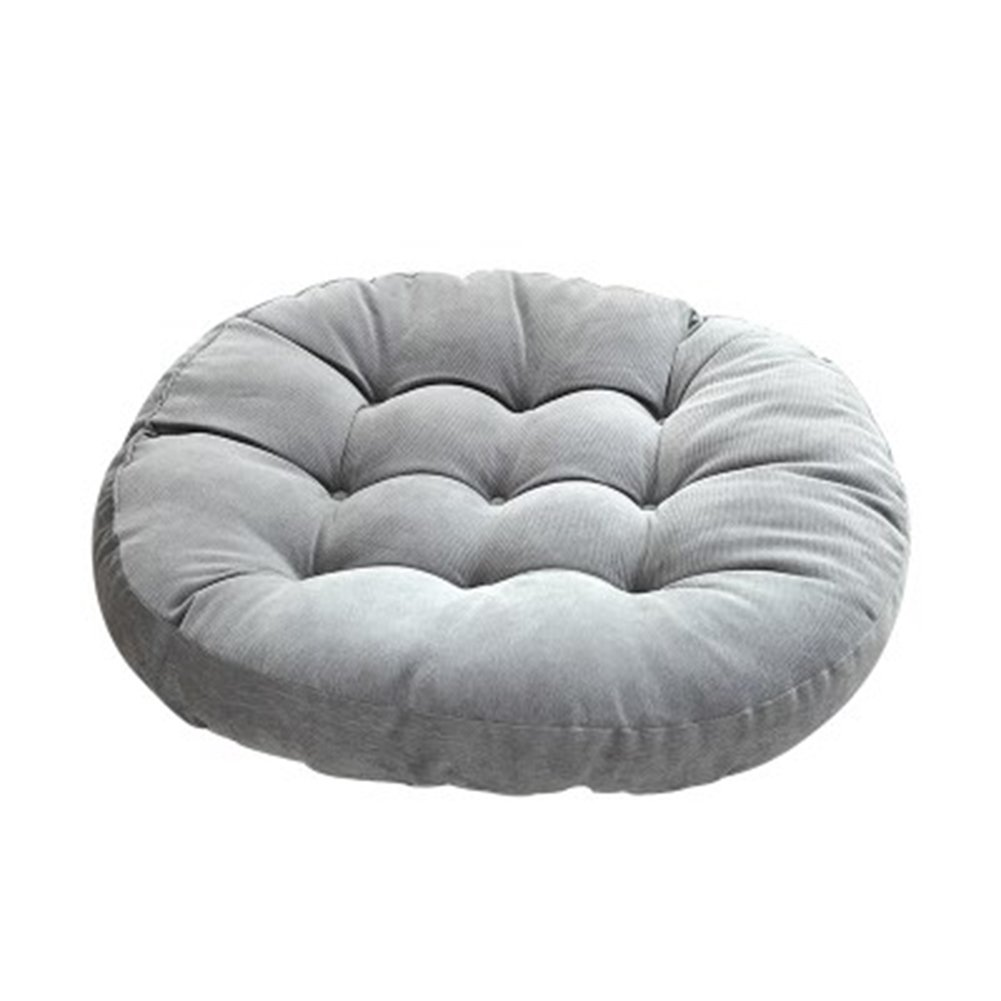 JINGXIN Round Corduroy Floor Pillow Chair Cushion Tatami Style Futon Pad Window Pad Yoga Mat 22x22-inches,Grey