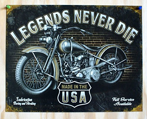 Poster Discount Legends - Never Die Tin Sign, 16x12