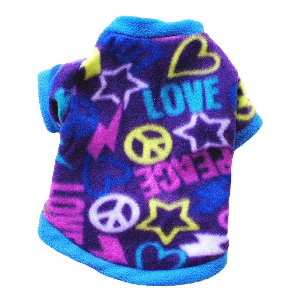 CricTeQleap Mode Welpen Haustier Kleidung Multicolor Faux SAMT Pullover Cute Pullover Hund Bekleidung Kostüm