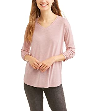 63b9d0a0 Amazon.com: Faded Glory Womens Plus 2X - 5xI Long Sleeve V Neck Shirt Tee  Light Weight: Clothing