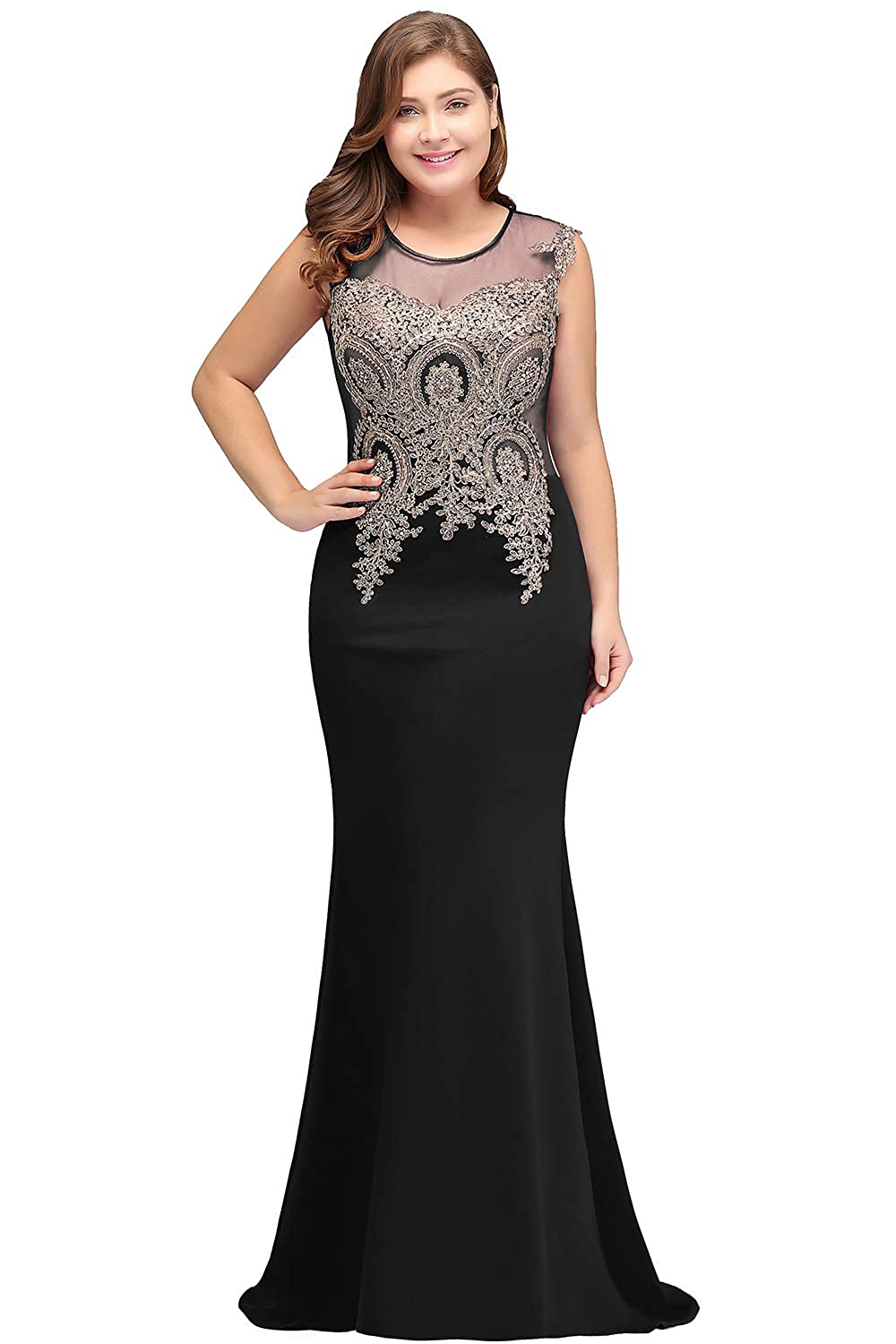 Babyonline Women Evening Gown Plus Size Mermaid Formal Dress at ...