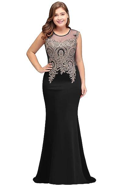 Babyonline Women Evening Gown Plus Size Mermaid Formal Dress ...