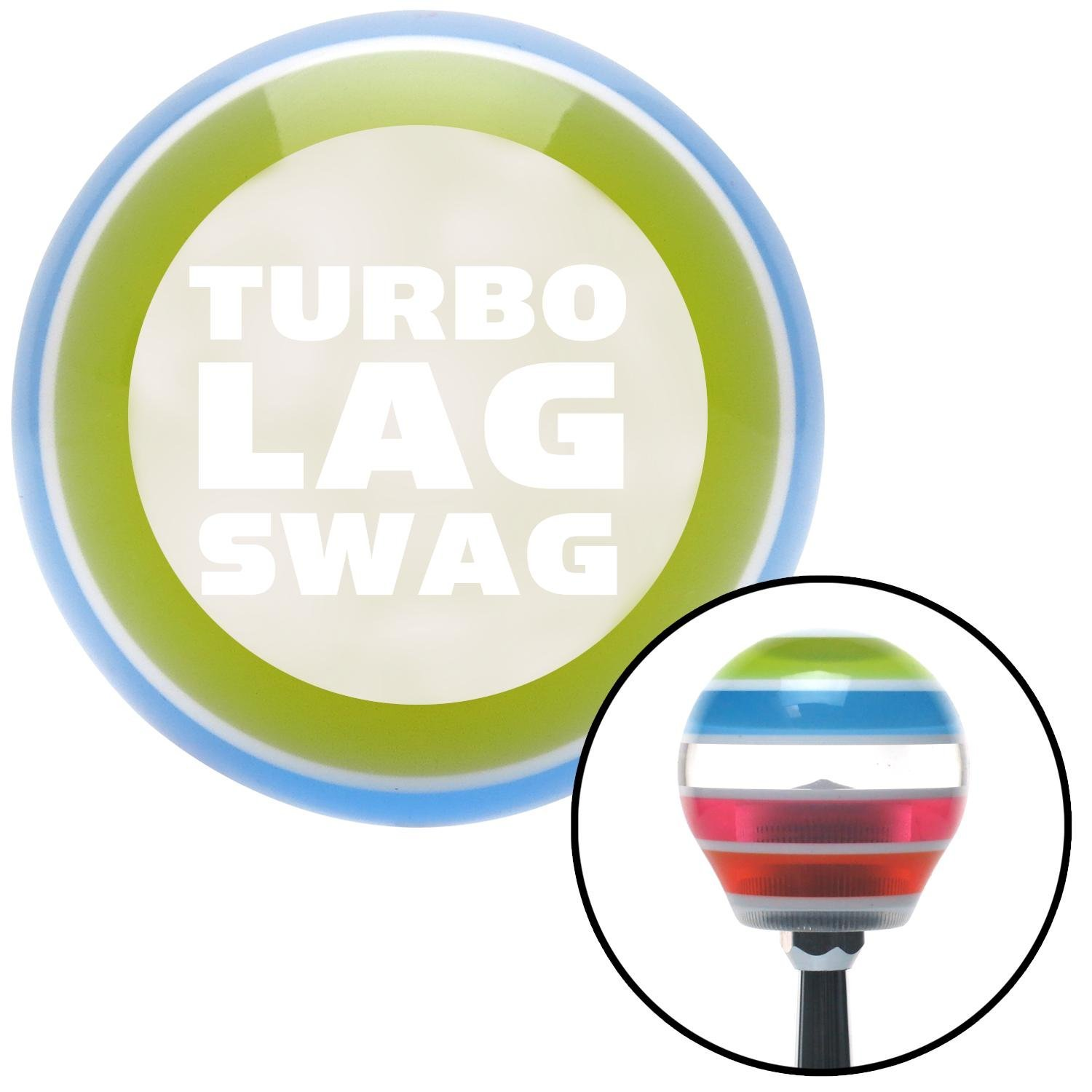 White Turbo Lag Swag American Shifter 137954 Stripe Shift Knob with M16 x 1.5 Insert