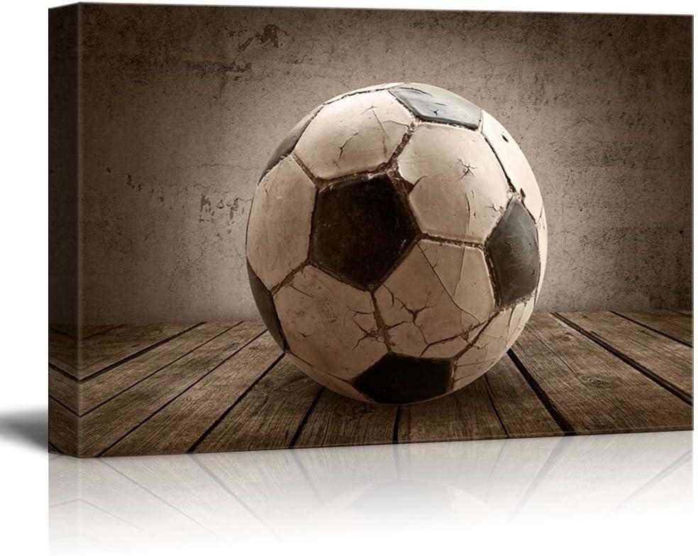 Goal! Soccer Rustic Rectangular Sport Panel - Futbol - Celebrating American Sports Traditions - Canvas Art Home Art - 32x48 inches