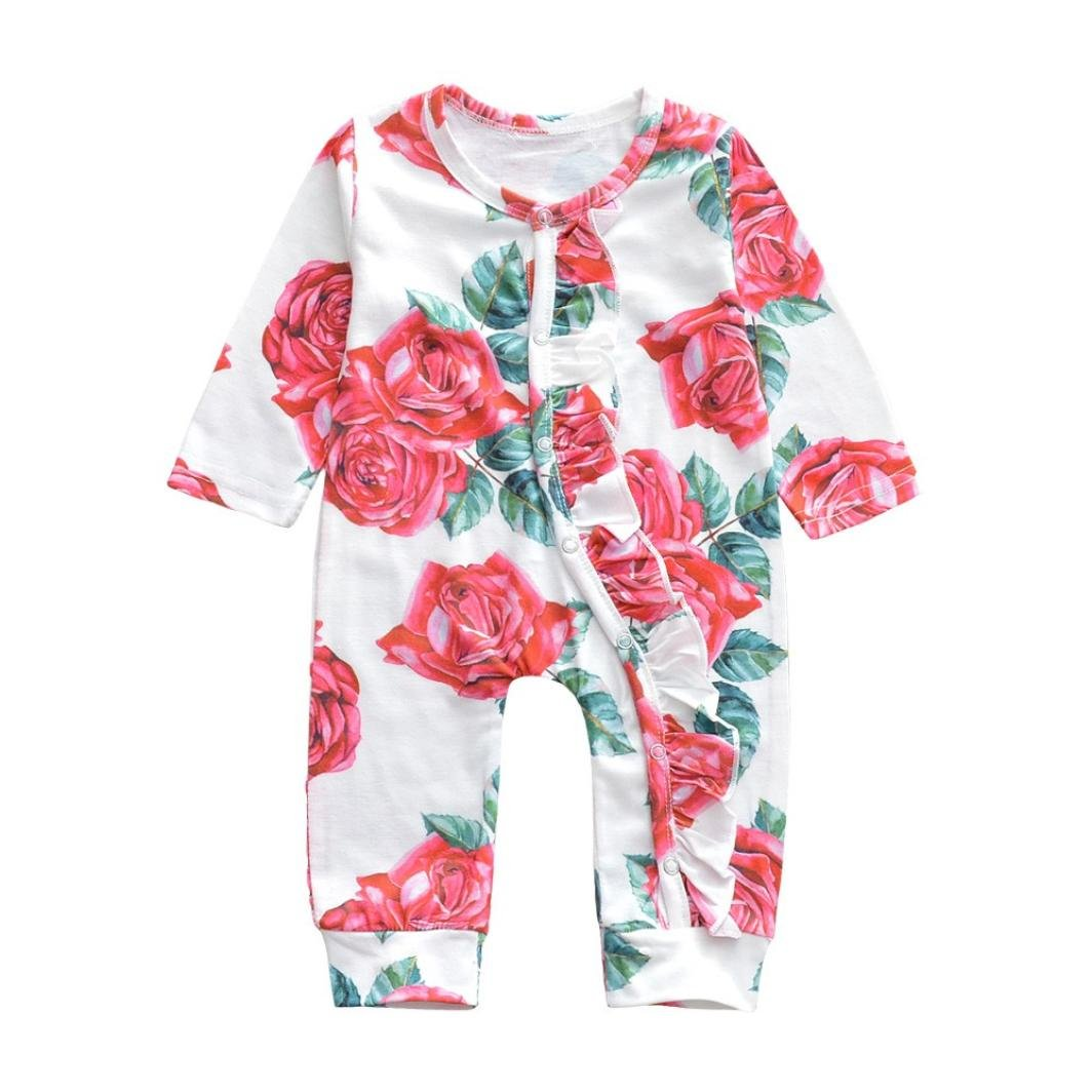 Baby Toddler Girls Pink Summer Top /& Floral Leggings Outfit 0-24 Months