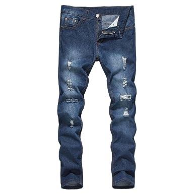 56b50f1ffd950 Internet Homme Jeans Skinny Denim Pantalon Straight Biker Déchiré Troué  Vintage Jeans Skinny Casual Jambe Droit Slim Fit Hiphop Jeans Slim Patalon  Straight ...