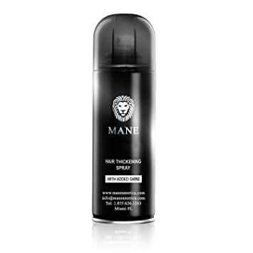 Mane America Hair Thickening Spray with Added Shine Root Concealer - Thicker Fuller Hair Instantly (