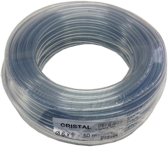 Tricoflex 00311132 - Manguera flexible (PVC, 6 mm diámetro interior, 50 m), transparente