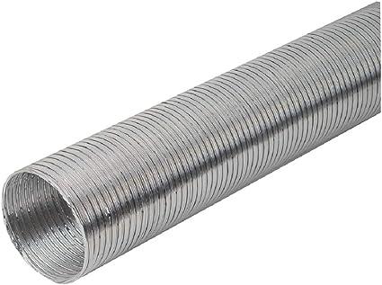 Tubo flexible de aluminio de 150 mm de diámetro, longitud de 1,5 m, flexible: Amazon.es: Bricolaje y herramientas