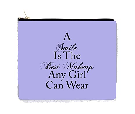 Amazoncom Smile Is The Best Makeup Quote In Purple 2 Sided 65