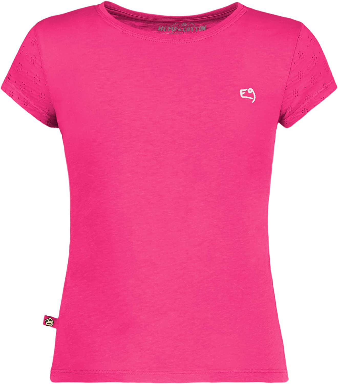 E9 Enove – B Rica19 – Camiseta para niña de Manga Corta de algodón Carmen Rosa