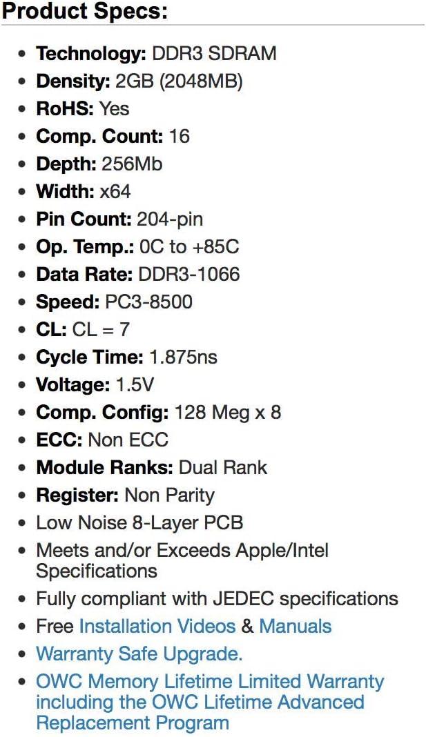PC3-8500 RAM Memory Upgrade for the Compaq HP Probook 4420s 2GB DDR3-1066 WZ248UT#ABA