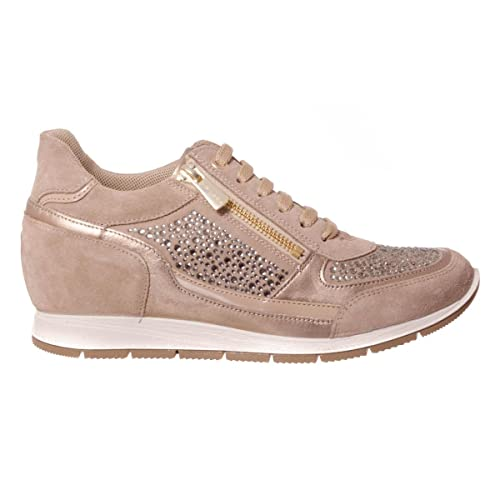 IGI&CO Zapatillas de Deporte de Cuña Interior Zapatos de Mujer 77802/00 Talla 39 Beige: Amazon.es: Zapatos y complementos