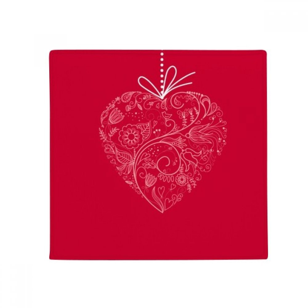 DIYthinker Heart Shaped Flowers Vines Valentine's Day Anti-Slip Floor Pet Mat Square Home Kitchen Door 80Cm Gift