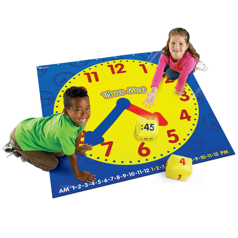 clock telling time activity mat