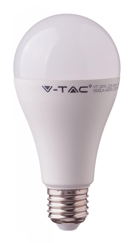 BOMBILLA LED E27 A65 V-TAC 17W>>100W LUZ FRIA 1521LM CHIP SAMSUNG L164: Amazon.es: Electrónica