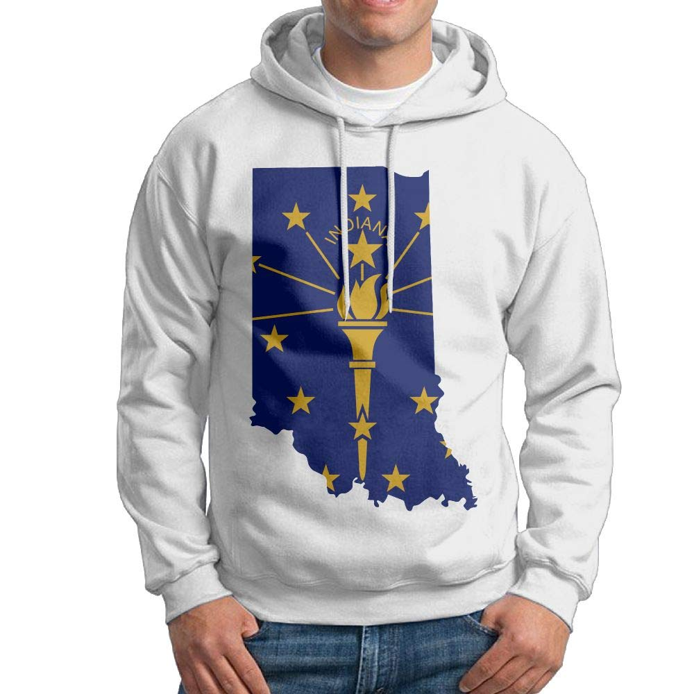 Warm Indiana Map Cotton Coat for Mens Vtw24i-5 Mens Hooded Sweatshirt