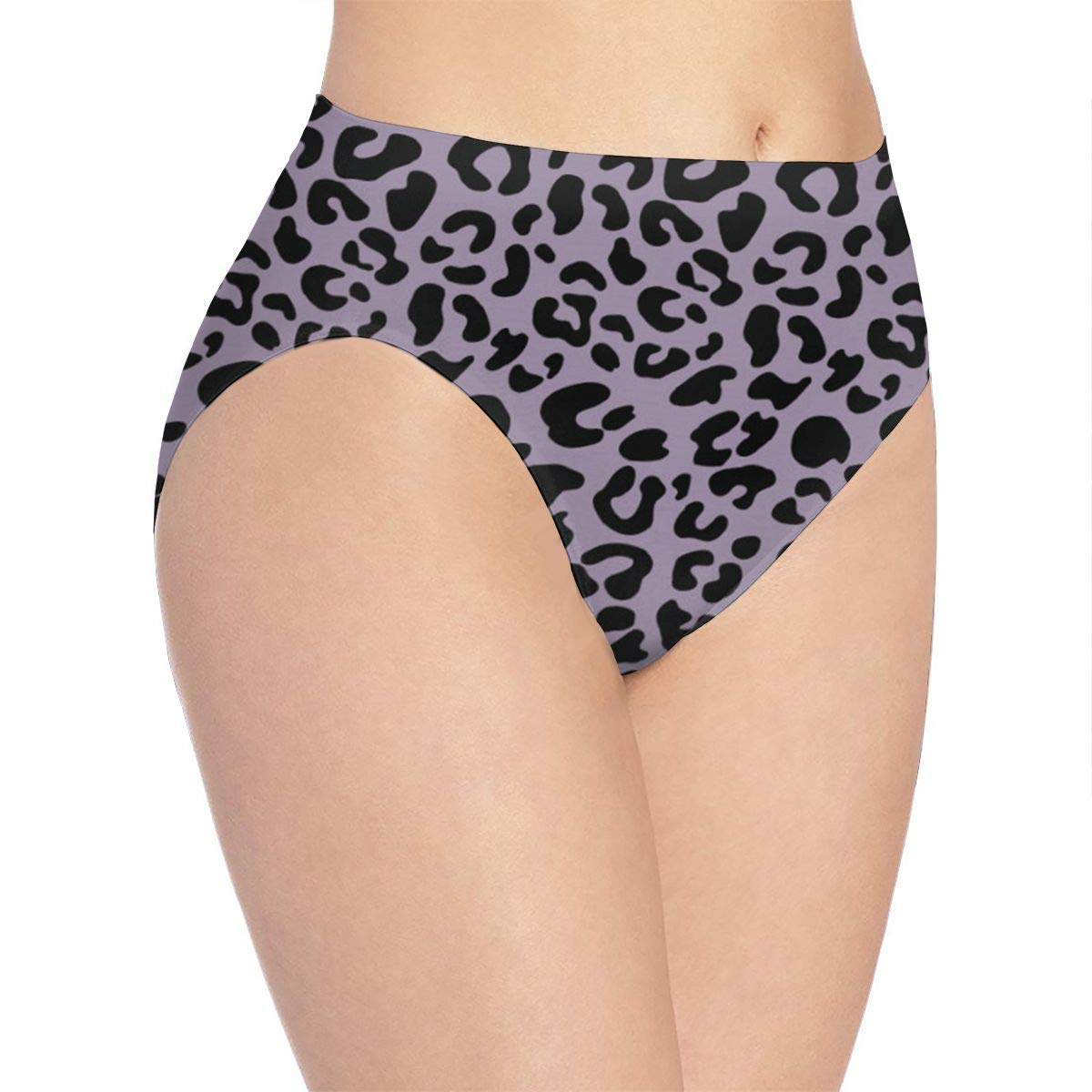 c01b8d033 Purple Leopard Print Women s Underwear Hipster Panties at Amazon Women s  Clothing store