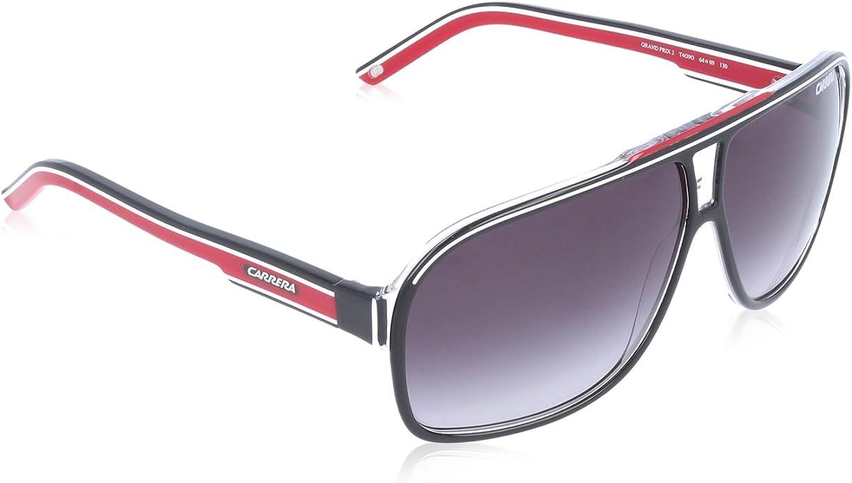 Carrera Grand Prix 2 9O T4O Gafas de sol, Negro (Bkcr Bkwhred/Dark Grey Sf), 64 Unisex Adulto: Amazon.es: Ropa y accesorios