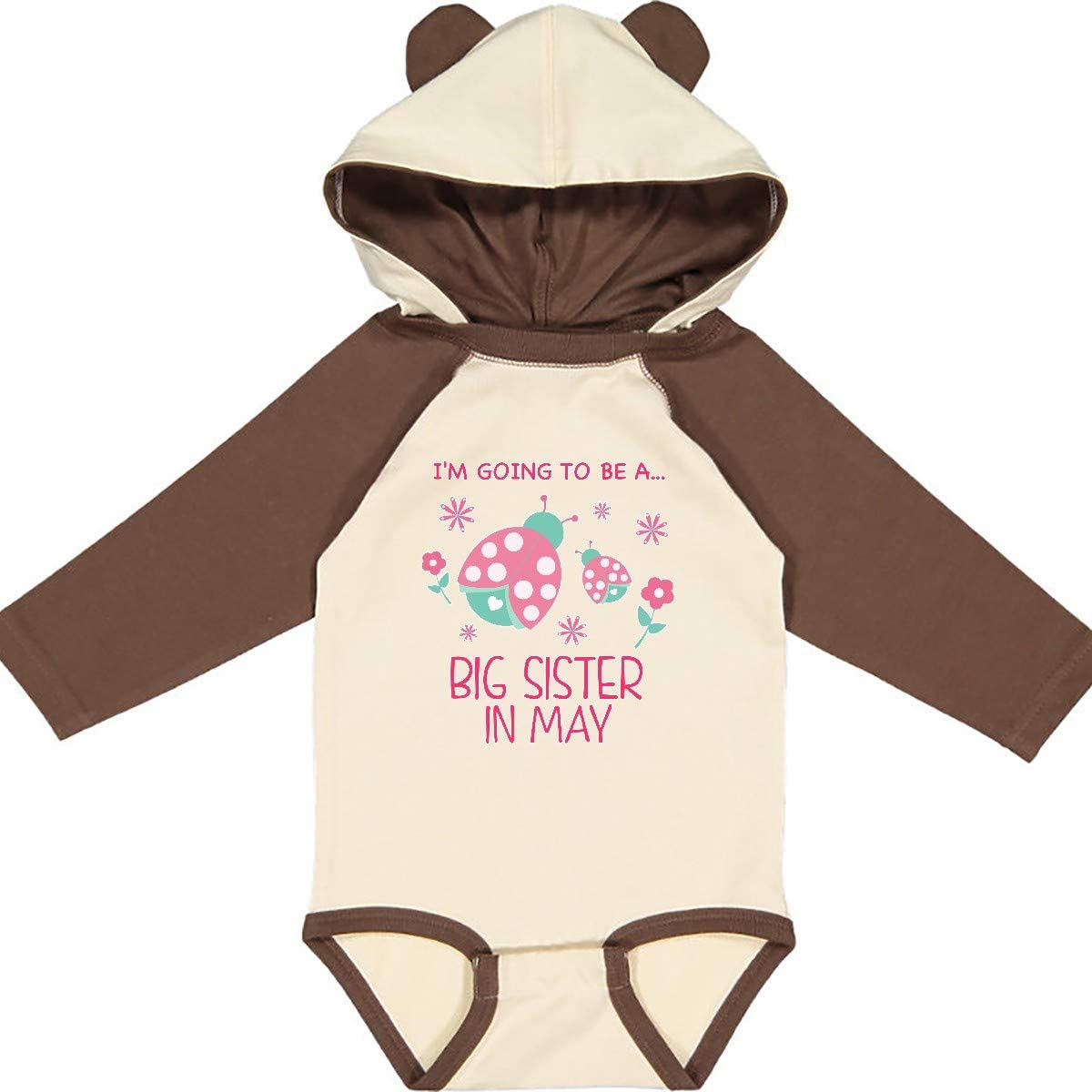 inktastic Im Going to Be a Sister in May Long Sleeve Creeper