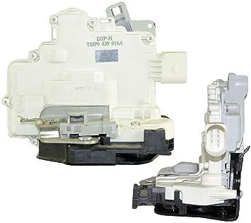 D2P para Seat Altea/XL, Leon, Toledo, VW EOS TSI/GLP/TFSI tdi FSI Trasero Derecho Cerradura de la Puerta