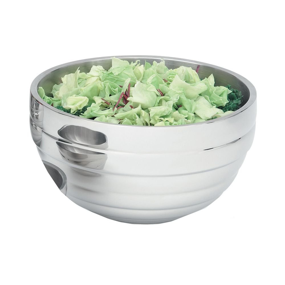 Vollrath (46592) Double Wall Round Insulated Beehive Serving Bowl (6.9-Quart, Stainless Steel)