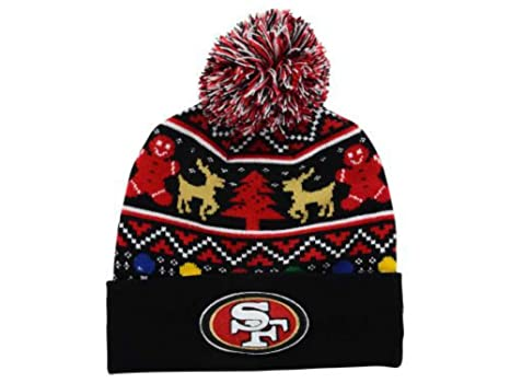 b248696d70f Image Unavailable. Image not available for. Color  New Era San Francisco  49ers Holdiay Cuffed Beanie w  Pom One Size Hat ...