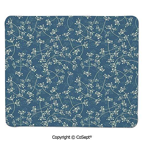 (Non-Slip Rubber Base Mousepad,Nature Elegance Featured Twiggy Plants Petals Spring Fashion Design,for Laptop,Computer & PC (11.81