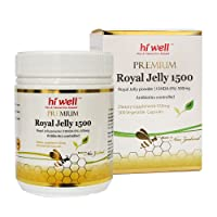 Hi Well Premium New Zealand Bee Royal Jelly 1500mg 10hda 6% 300 Vegetable Capsules...