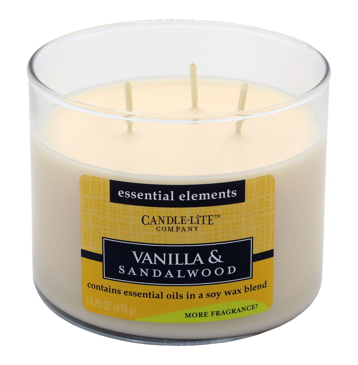 Candle-lite Soy Wax Vanilla and Sandalwood