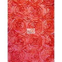 "ROSETTE STYLE TAFFETA FABRIC - Coral - 52""/58"" WIDTH - ONLY $13.99/YARD SOLD BTY"