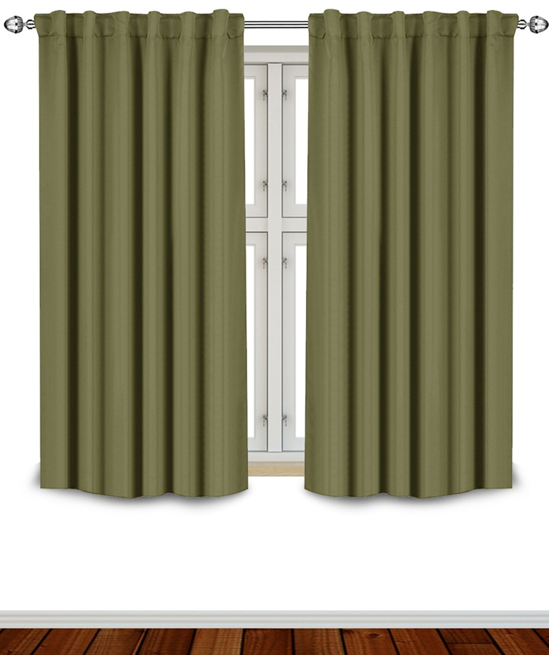 Amazon com utopia bedding blackout room darkening and thermal insulating window curtains panels drapes 2 panels set 7 back loops per panel 2 tie