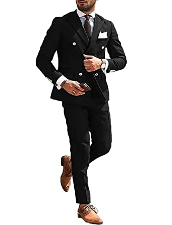 6d6f60b11c9e DGMJ Mens Suits Slim Fit 2 Piece Wedding Suits Stylish Formal Dinner Jacket  Blazer for Men Party XZ026 at Amazon Men's Clothing store: